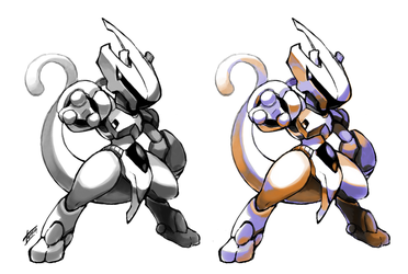 Armored Mewtwo by Tomycase