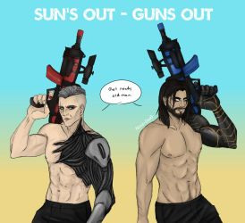 sun's out - guns out by Alexis-Croft