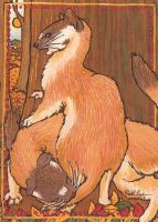 Bend and Twist ACEO by Redwall151