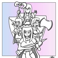 Clash Girls by Adam-Clowery