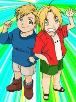 Alphonse and Edward Elric by Meilinli