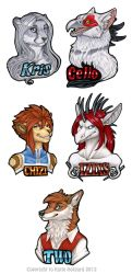 Some Bust Badges by KatieHofgard