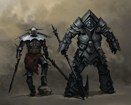 Knight armor concepts by priapos78