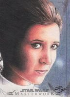 Star Wars Masterwork - Leia Sketch Art Card 4 by DenaeFrazierStudios