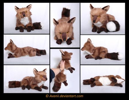 Plushie Commission: Homer the Fox by Avanii