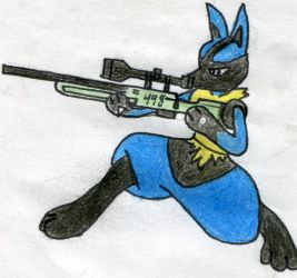 sniper Lucario finished by wildlevi