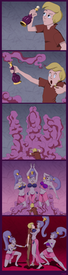 The Mad Genie of the Bottle by BluTaiger