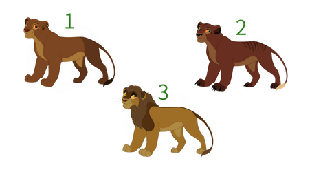 Adult Lion Adoptable OPEN 1/3 by AlbinoWolf296