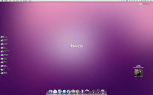 Purple Desktop by optiv-flatworms