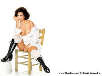 Pin-up on chair by flipation