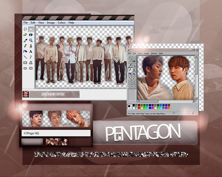 Pack Png 217 | PENTAGON | #1 by IDreamWithFire