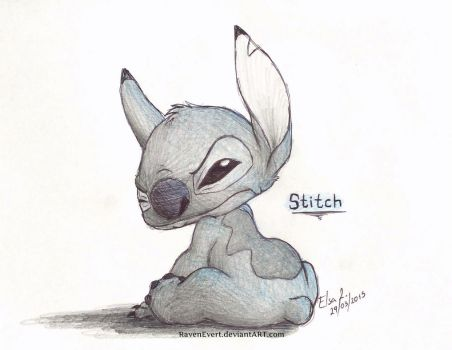 Stitch Disgusted by RavenEvert