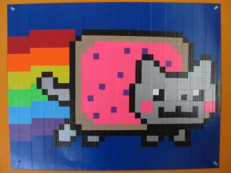 Duct Tape Nyan Cat Poster by DuckTape-Rose