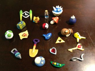 Some of my fave Nintendo items by Ooh-A-piece-of-Candy