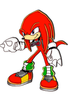 Knuckles the echidna SA style by Waito-chan