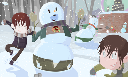 Snowball Battle Royale by rayne-gallows