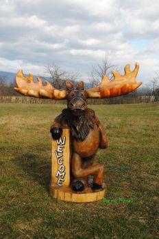 Moose Chainsaw Carving by kissel71