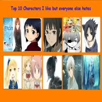 Characters I like that everyone else hates 2 by Sakuraofchaos