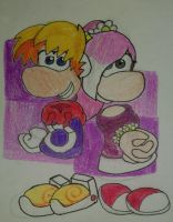 Rayman and Linnea by GreenySolitare