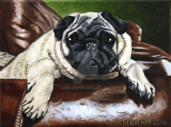 Big Chair Pug by Moni3