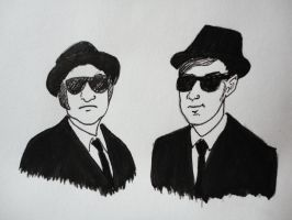 The Blues Brothers by chickaferdy