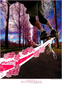 Skating All Day by Alexielated