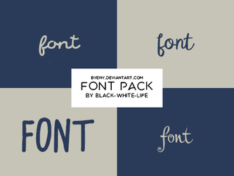 Fonts Pack 6 By Black-white-life by ByEny