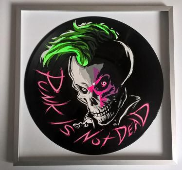 Punk is not dead. Painted on vinyl record by vantidus