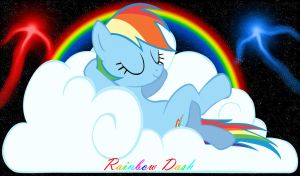Rainbow Dash chillin' by RainbowDashRocks101