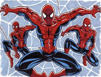 Spider-Man Triptych by calslayton