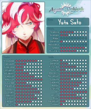 AR: Yuta Stat Sheet by iZince