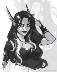 WoW: quick sketch commish by AppleSin