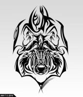 Wolf Tattoo Desing v2 by AbsoluteWolf