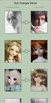 Doll Changes Meme by fantasywoods