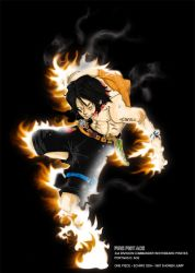 Portgas D. Ace on Fire by garrysempire