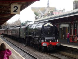 LMS 46233 'Duchess of Sutherland' at Teignmouth by The-Transport-Guild