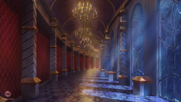 Dizzy Hearts: Palace Hallway by ExitMothership