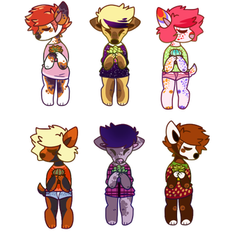 Doggoies-100p adopts OPEN by Red-Draws