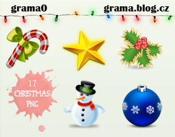 PNG pack - 17 Christmas png by grama0