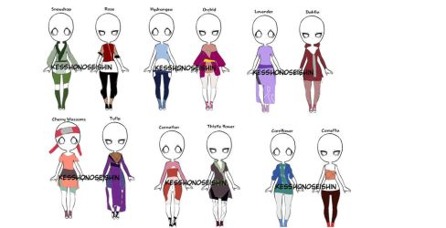 Naruto Outfit Batch[9/12 Open] by gaarafanlovers