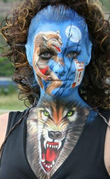 Facepainting Fantasy by iacubino