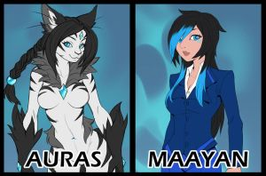 Auras vs Maayan Second HIT by playfurry