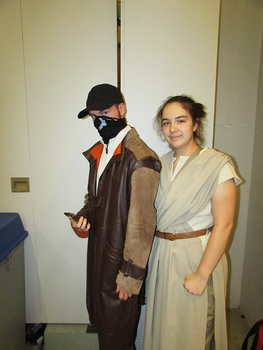 Aiden Pearce and Rey - Montreal Comic Con 2017 by J25TheArcKing