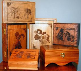 Handmade boxes for bronycon by bunnimation