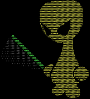 Jark the ASCII Jedi by diamondie