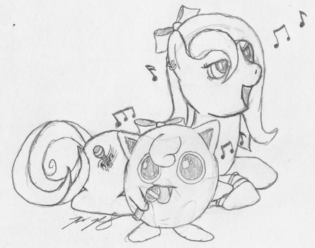 Dark Song and Jigglypuff by Dragonsbld