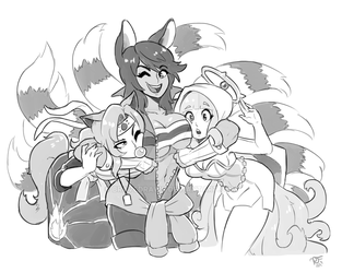 Wanderers/ Ria's Buddies by BraveDraws
