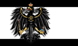 Prussian flag with 3D eagle by Arminius1871