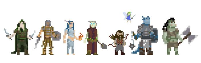 DnD Pixel Characters by Slange5