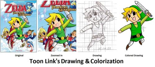 S. by S. : Toon Link's Drawing and Colorization by Firmaprim